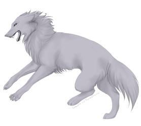 Wolf free lineart by FerroDakora