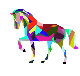 Colorful Horse Vector by PB08Arts