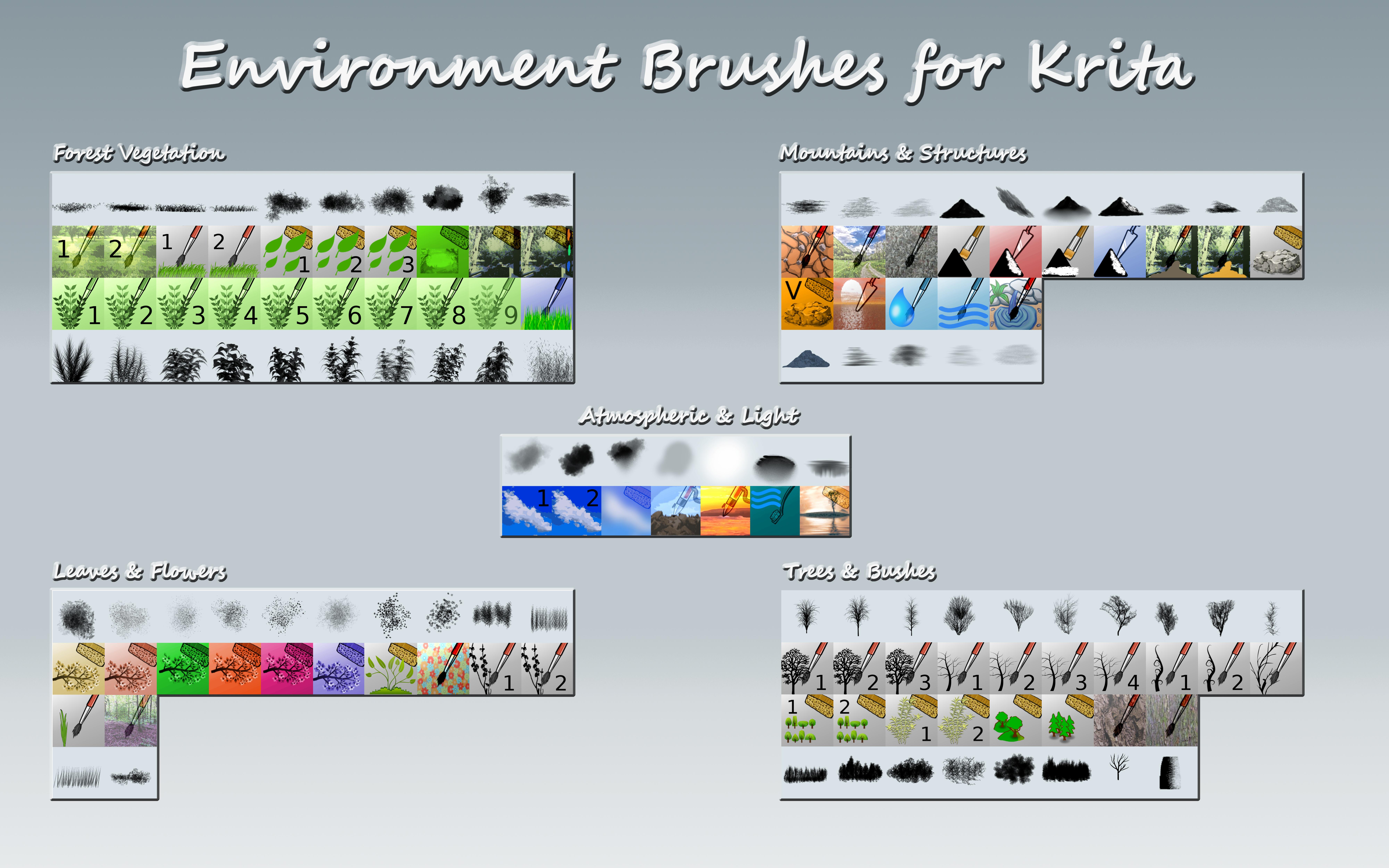 Krita Environment Brushes by IForce73 on DeviantArt