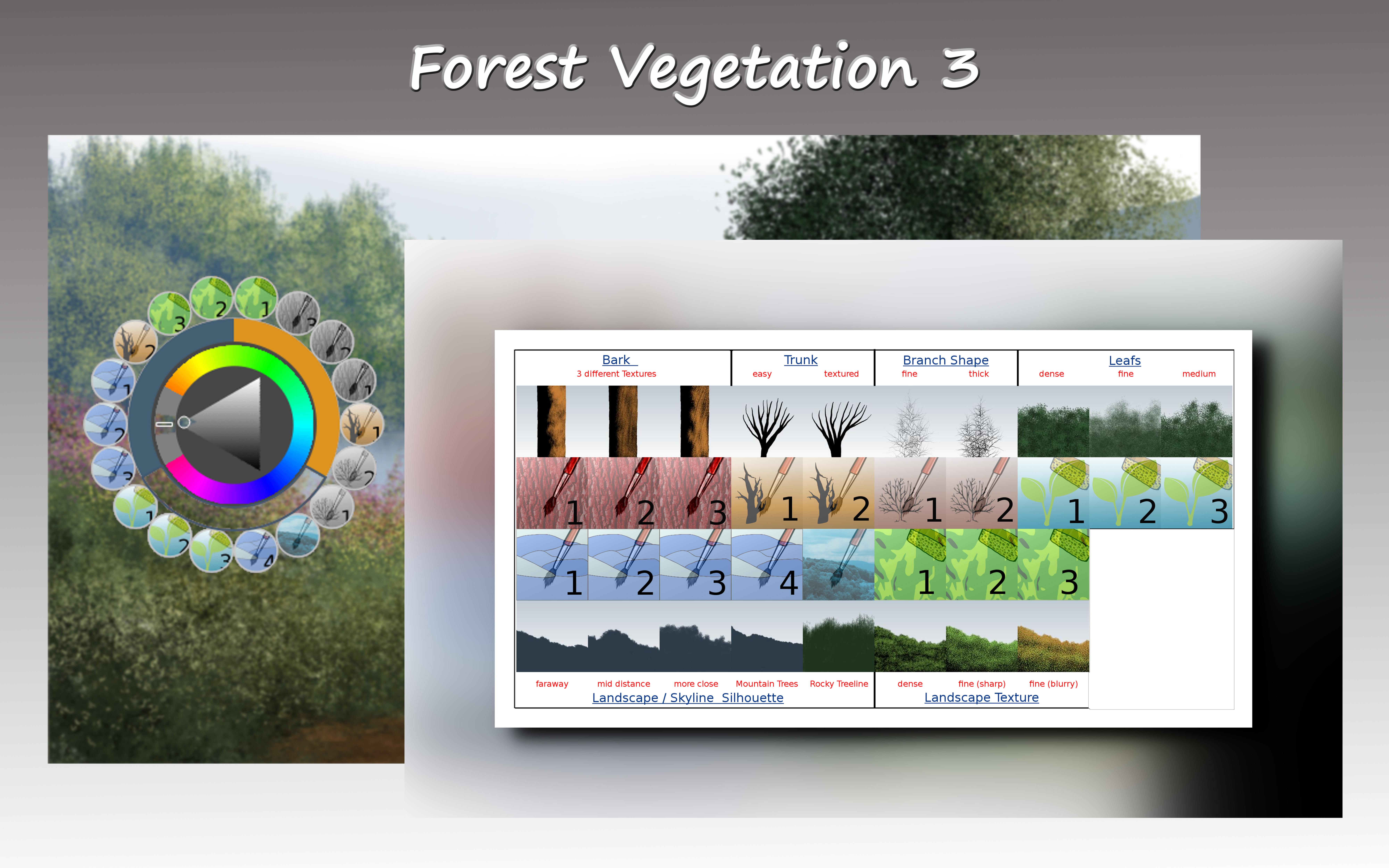 Krita Forest Vegetation 3