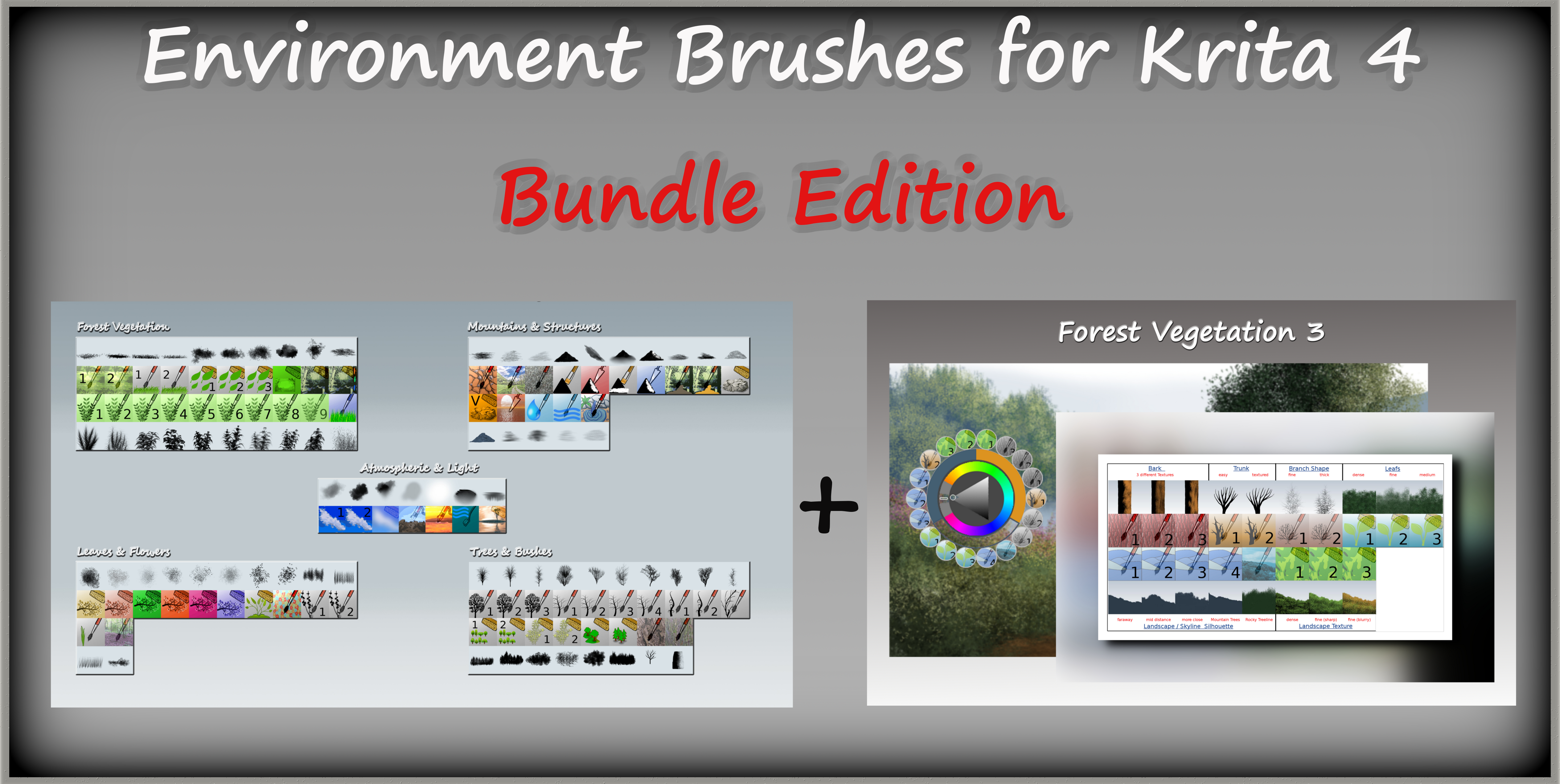 Environment Brushes and Forest Vegetation 3
