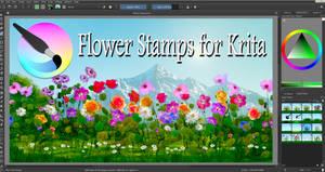 Flower Stamps for Krita 4.3.0