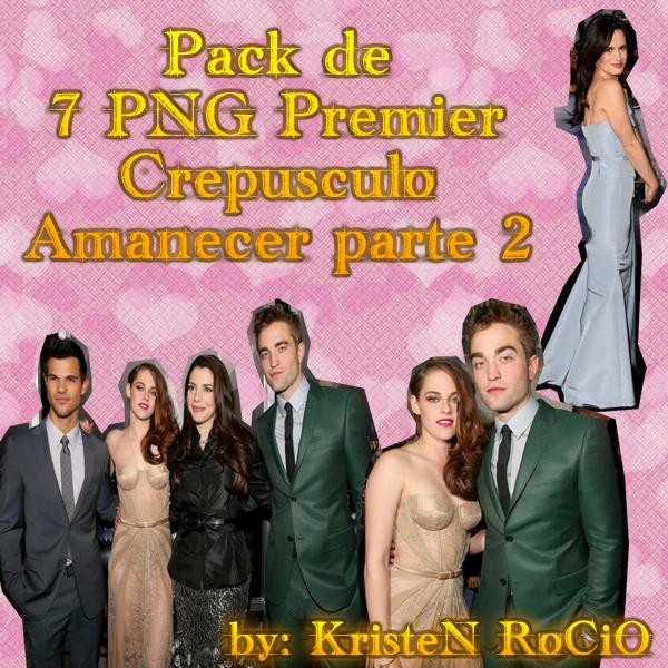 Pack de PNG Premier Crepusculo Amanecer Parte 2 by RoohEditions
