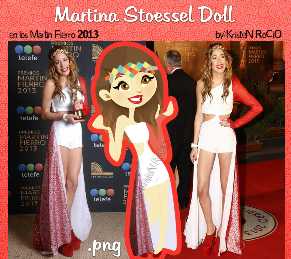 Martina Stoessel Doll (en los Martin Fierro 2013) by RoohEditions