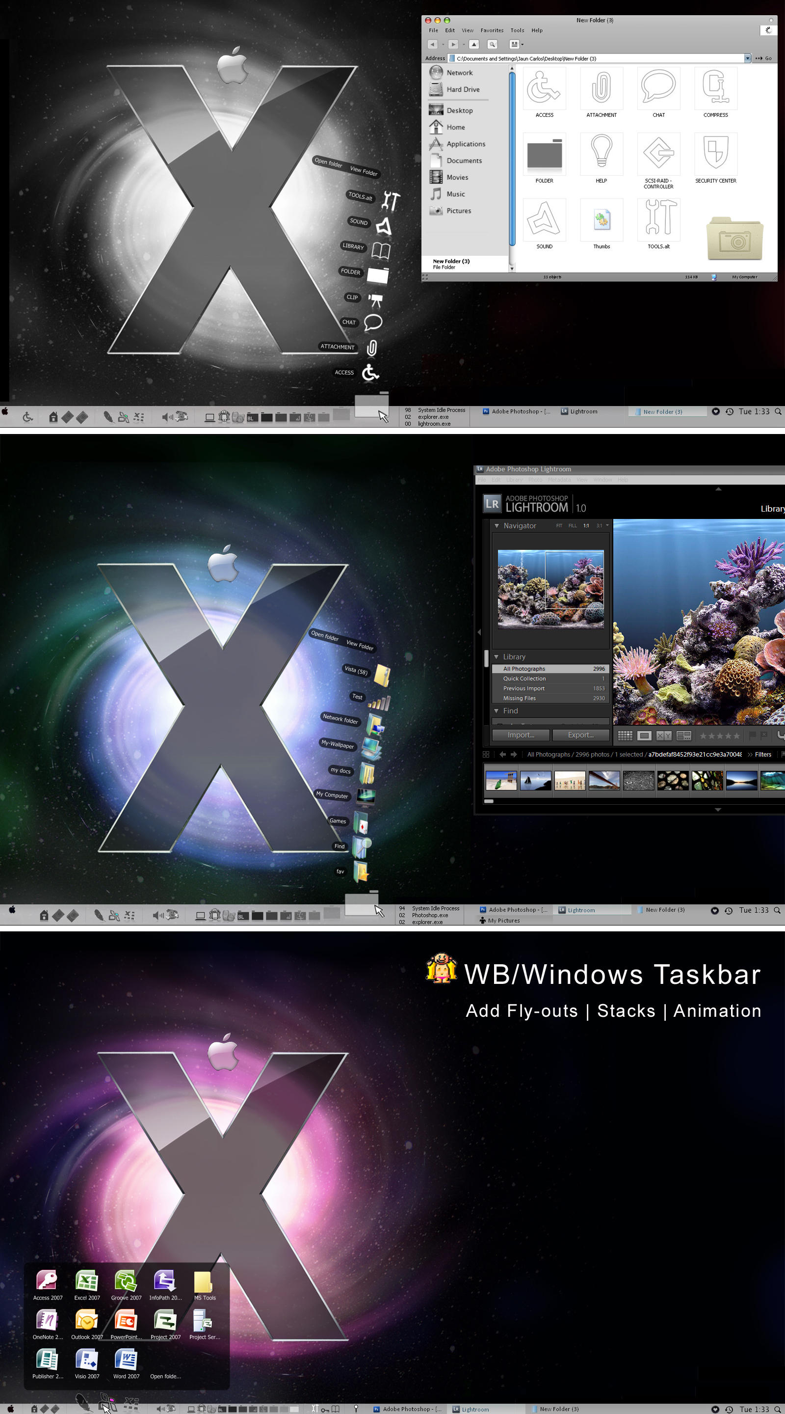 Windows Taskbar+leopard Stacks by Pariah07