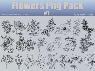Flowers Png Pack #1 by BusraGural