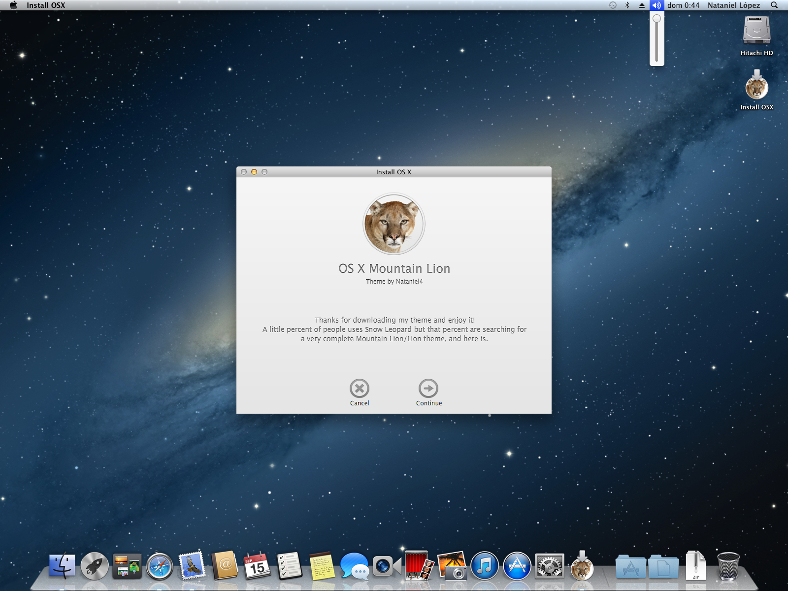 Final] Mountain Lion Full Theme for Snow Leopard by