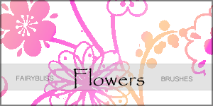 Flowers brush set by fairybliss