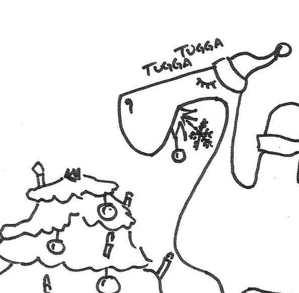 Christmas Trolls Coloring Page Landscape