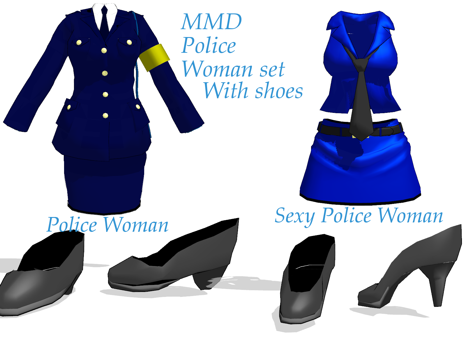 MMD Police Woman Set Download by amiamy111