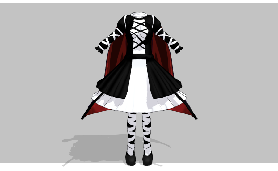 MMD Dark Lolita set - UPDATED- by amiamy111