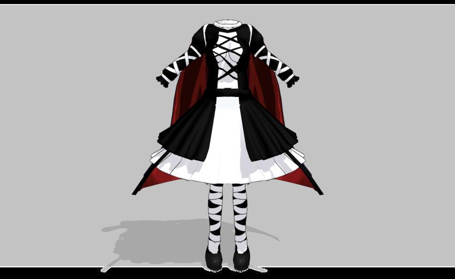 MMD Dark Lolita set - UPDATED- by amiamy111