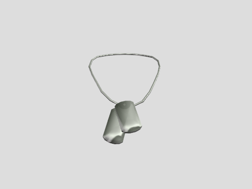 mmd Dog Tag necklace by amiamy111