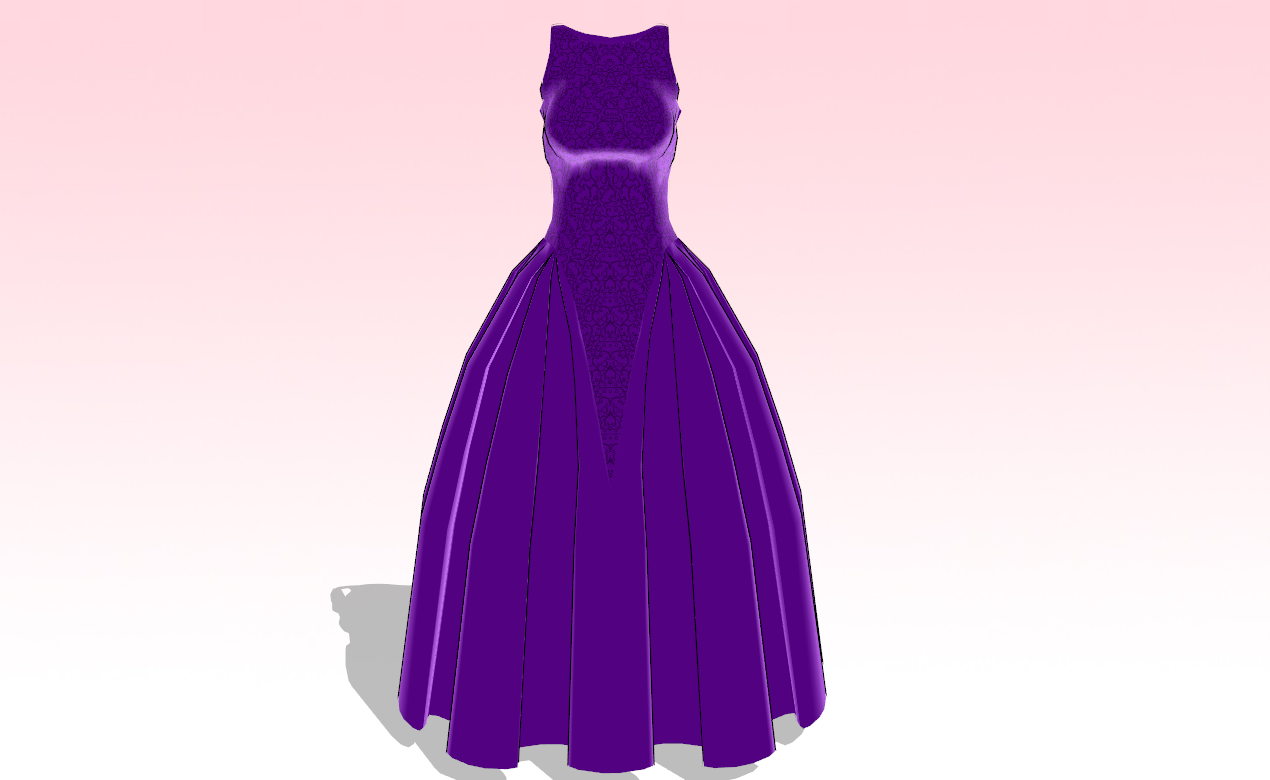 MMD Ballroom dress -UPDATE- by amiamy111