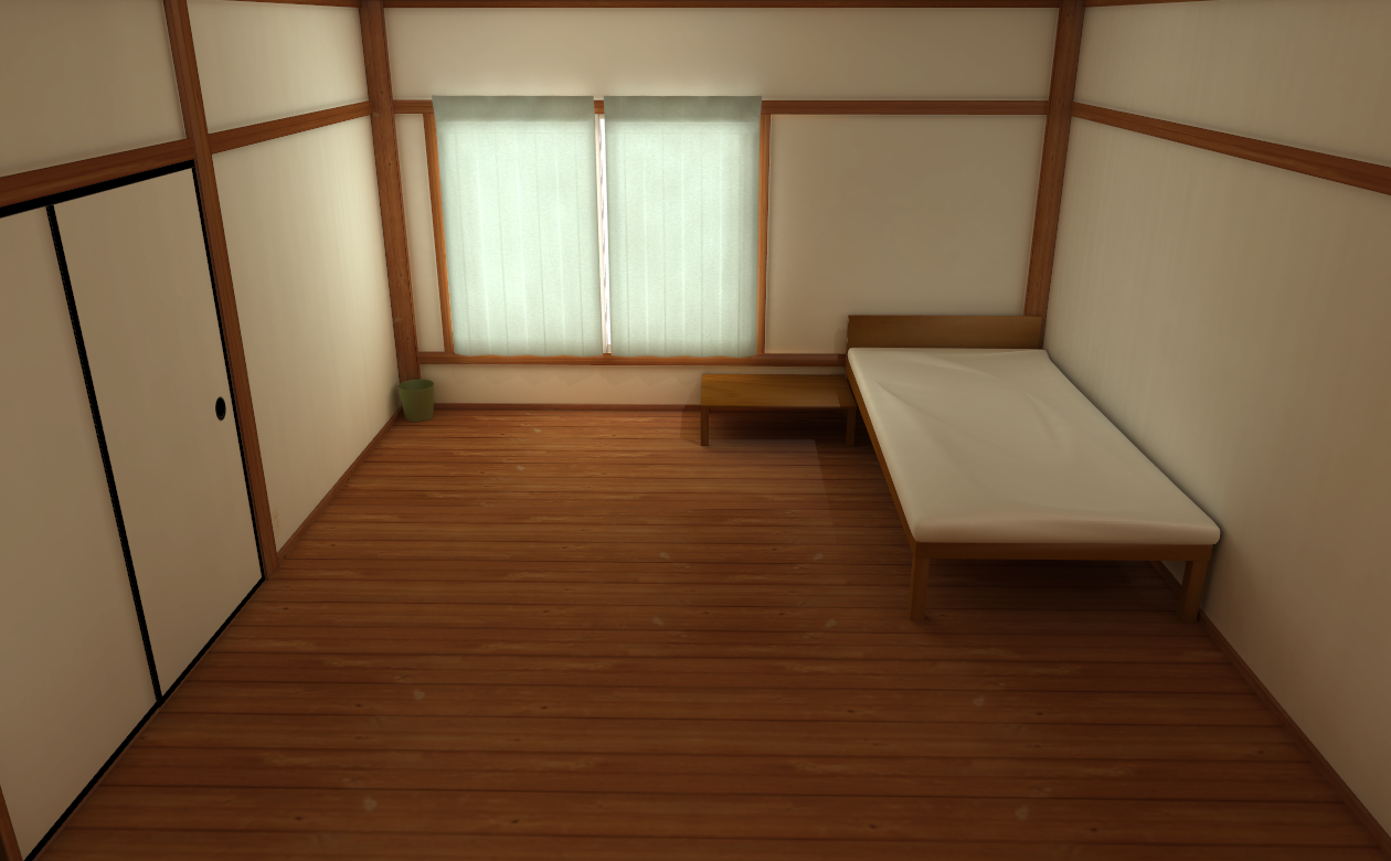 MMD HIGH QUALITY simple bedroom by amiamy111