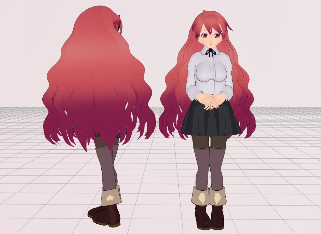 Mmd Long N Curly Hair By Amiamy111 On Deviantart
