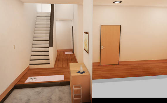 MMD HIGH QAULITY room with stairs