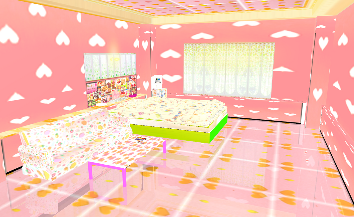 Mmd stage kandi bedroom by amiamy111 on deviantart for Stages bedroom collection