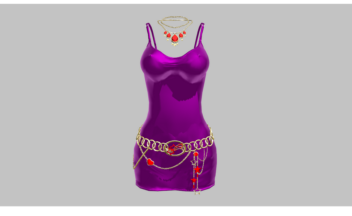 MMD Tight Purple dress NO AB version by amiamy111