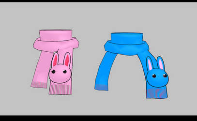 MMD Bunny scarfs -UPDATED- by amiamy111