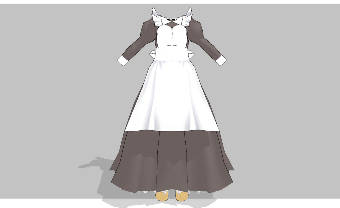 MMD V1 Maid -Updated- by amiamy111