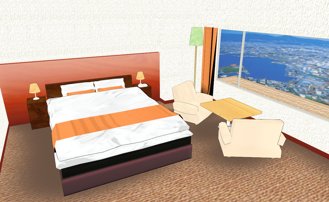 Mmd small and cute hotel room by amiamy111 on deviantart for Cute hotel rooms