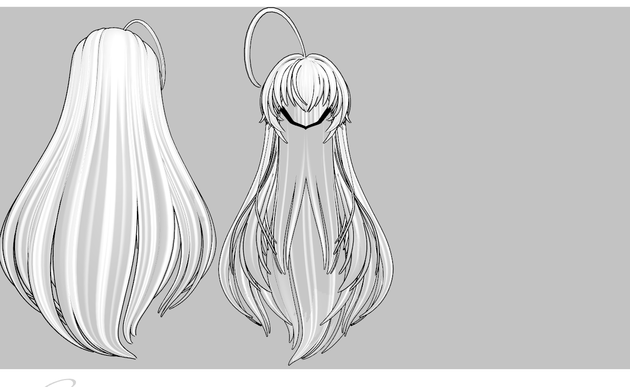 Messy N Long And Thick Hair DL By Amiamy111 On DeviantArt