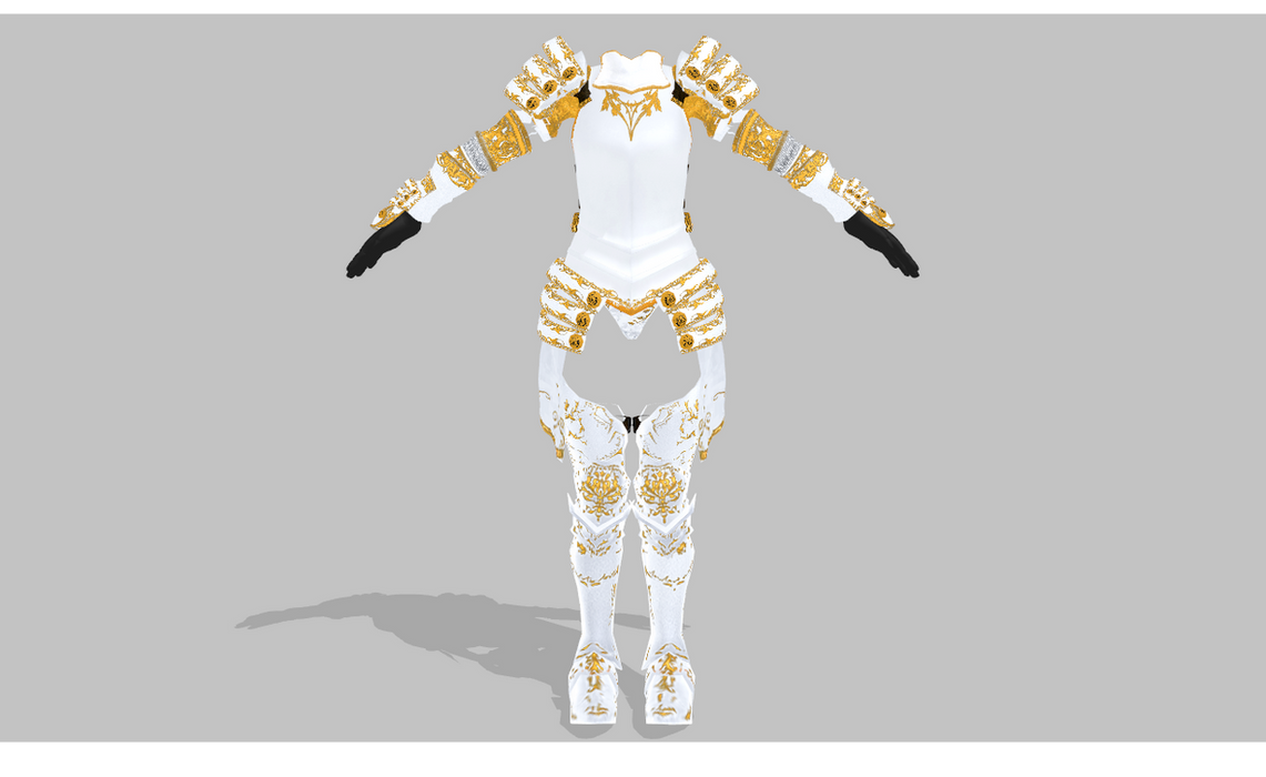 MMD Armor set by amiamy111 on DeviantArt