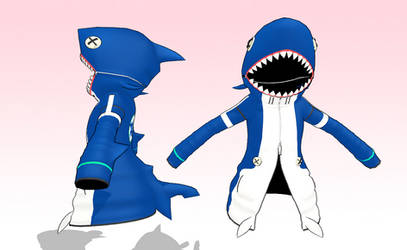 MMD Shark hoodie by amiamy111