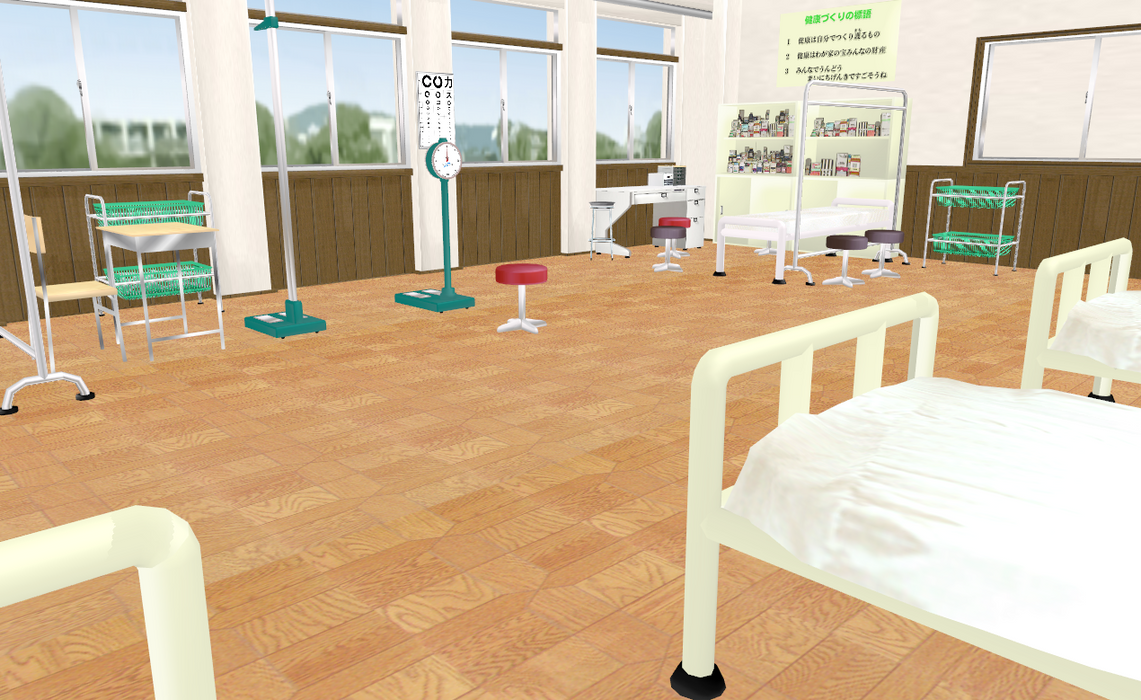MMD Anime Style Hospital by amiamy111