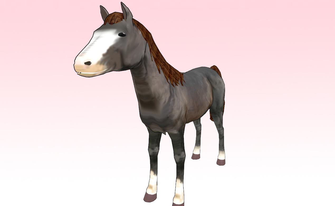 MMD horse downlaod by amiamy111