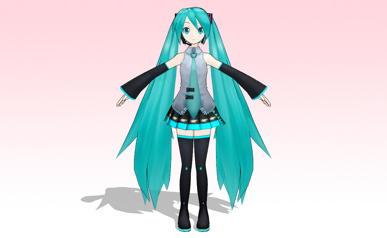 MMD 3D Custom MIKU by amiamy111