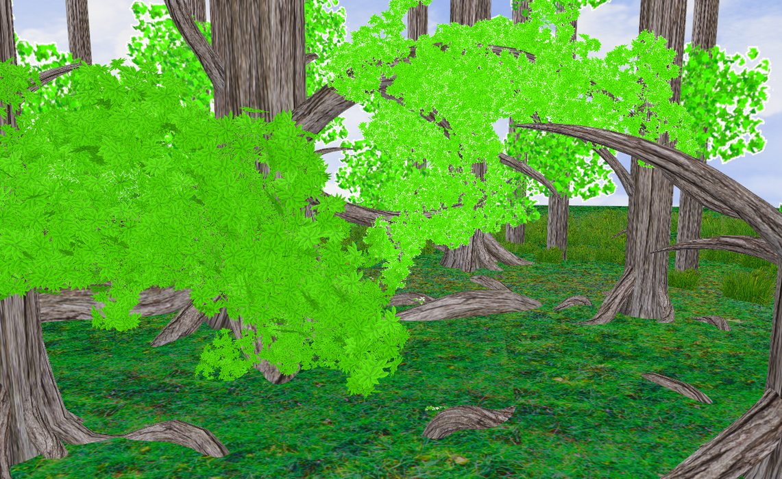 FIRST STAGE OF IT ALL Amazing forest - read info- by amiamy111