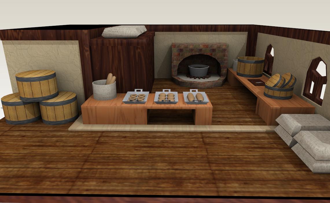 Mmd mabinogi bakery by amiamy111 on deviantart for Classic house bakery
