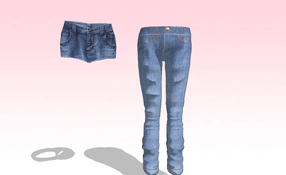 MMD HQ jeans and Shorts Pack