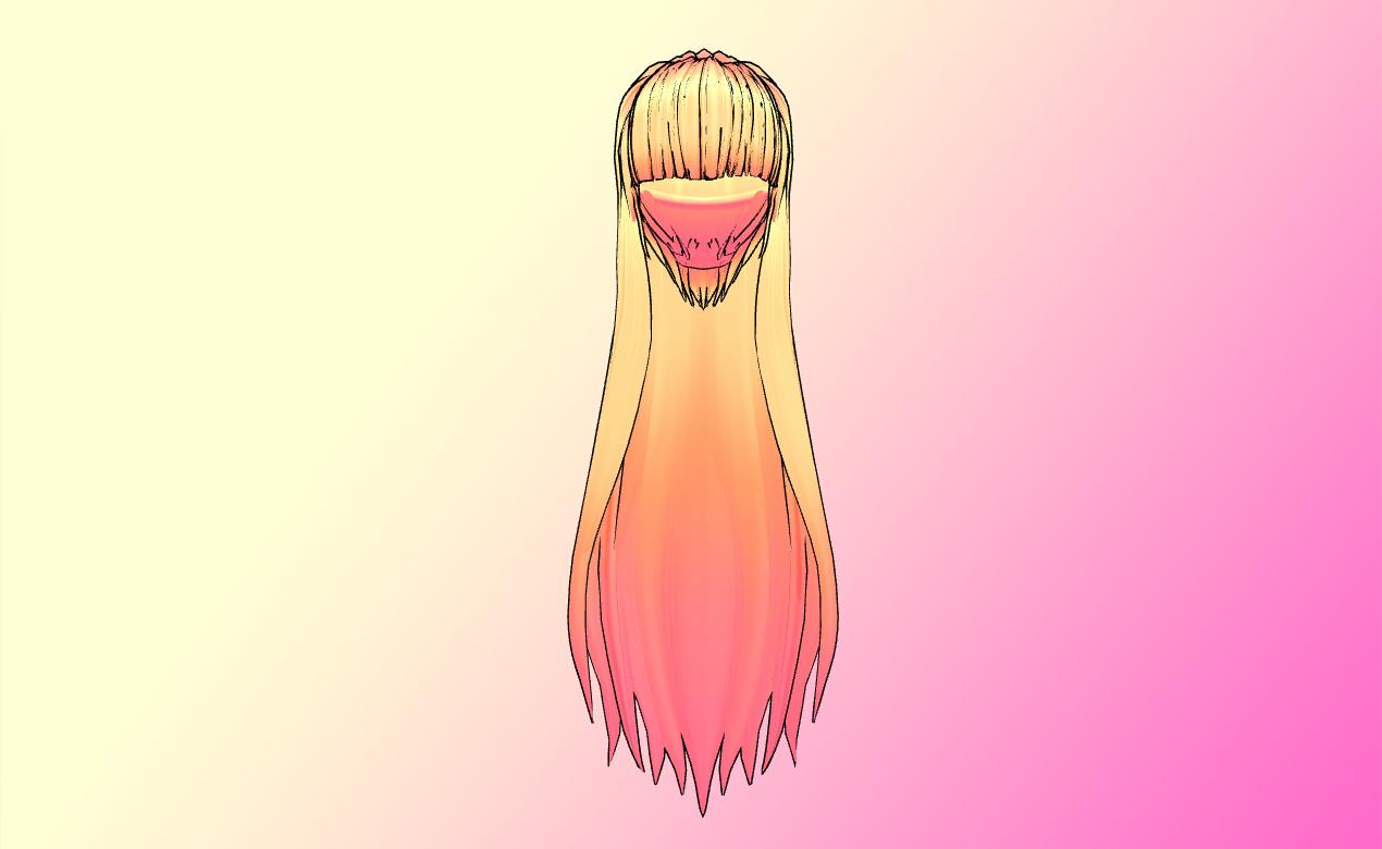 MMD Long NJXA hair Update by amiamy111 on DeviantArt