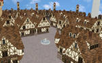 MMD medieval town stage - UPDATED AND BETTER-