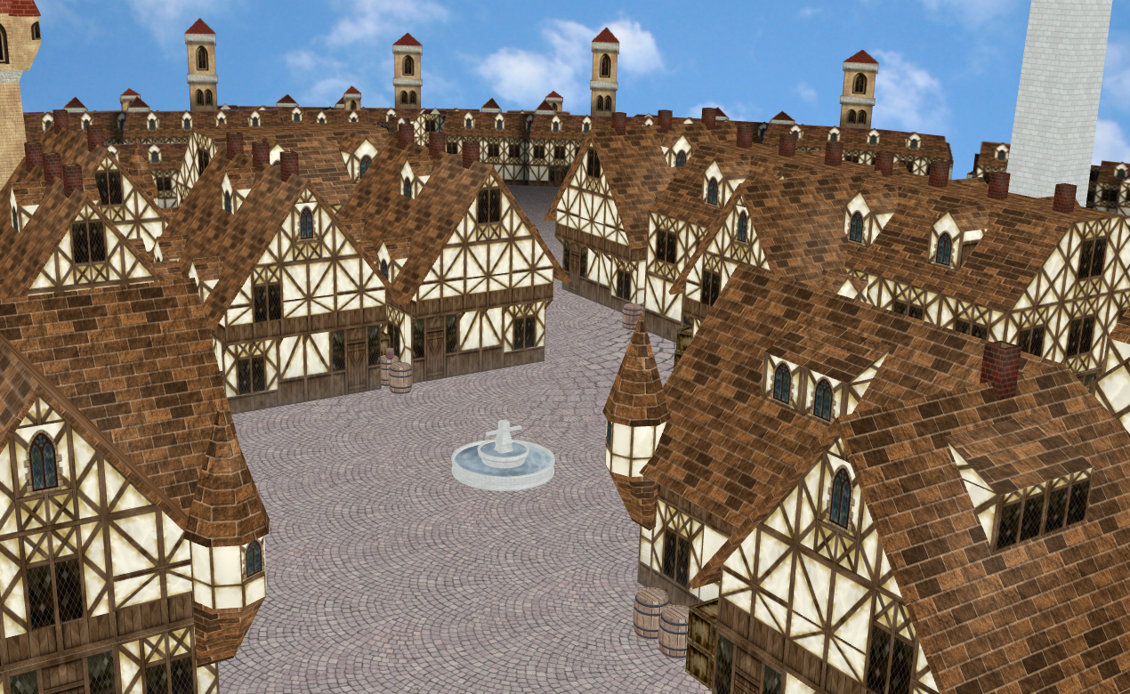Mmd Medieval Town Stage Updated And Better By Amiamy111
