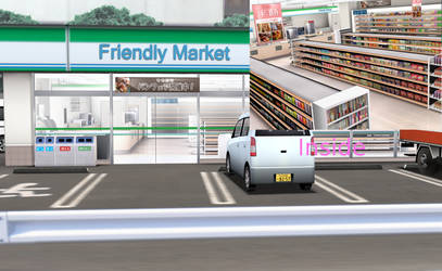 MMD Friendly Market stage.