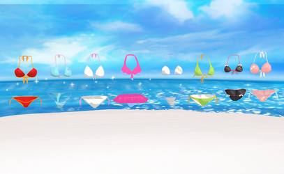 MMD Bikini pack by amiamy111