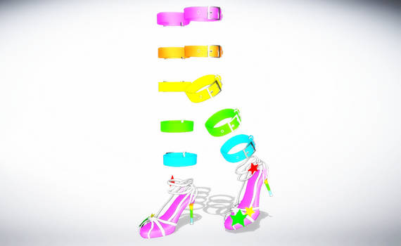 MMD Rainbow Strappies