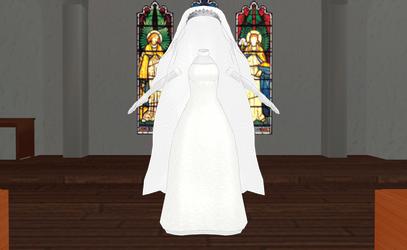 MMD Wedding Dress 03 -Final Dress- by amiamy111