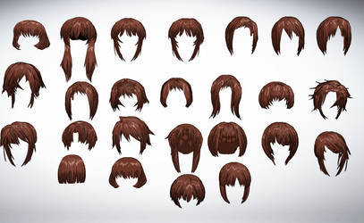 MMD Front hair pack 01 25-50+