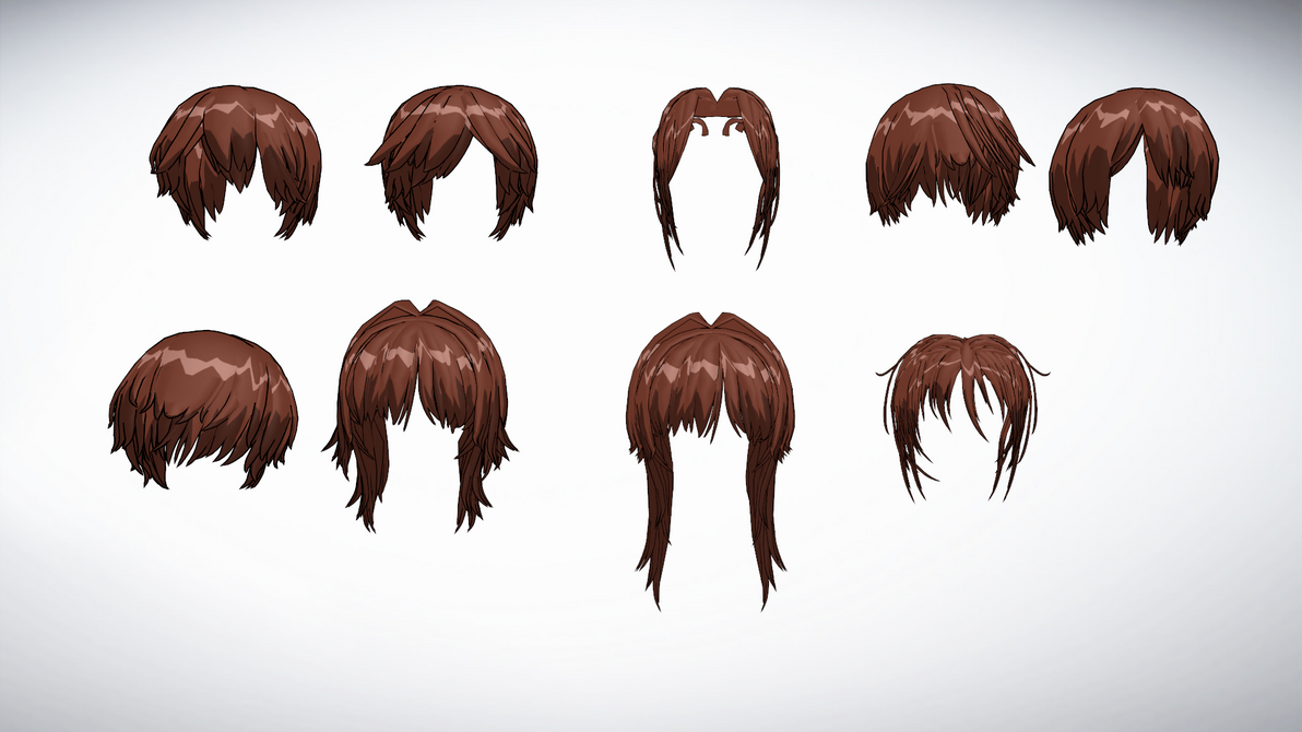 Mmd Front Hair Pack 7 By Amiamy111 On Deviantart