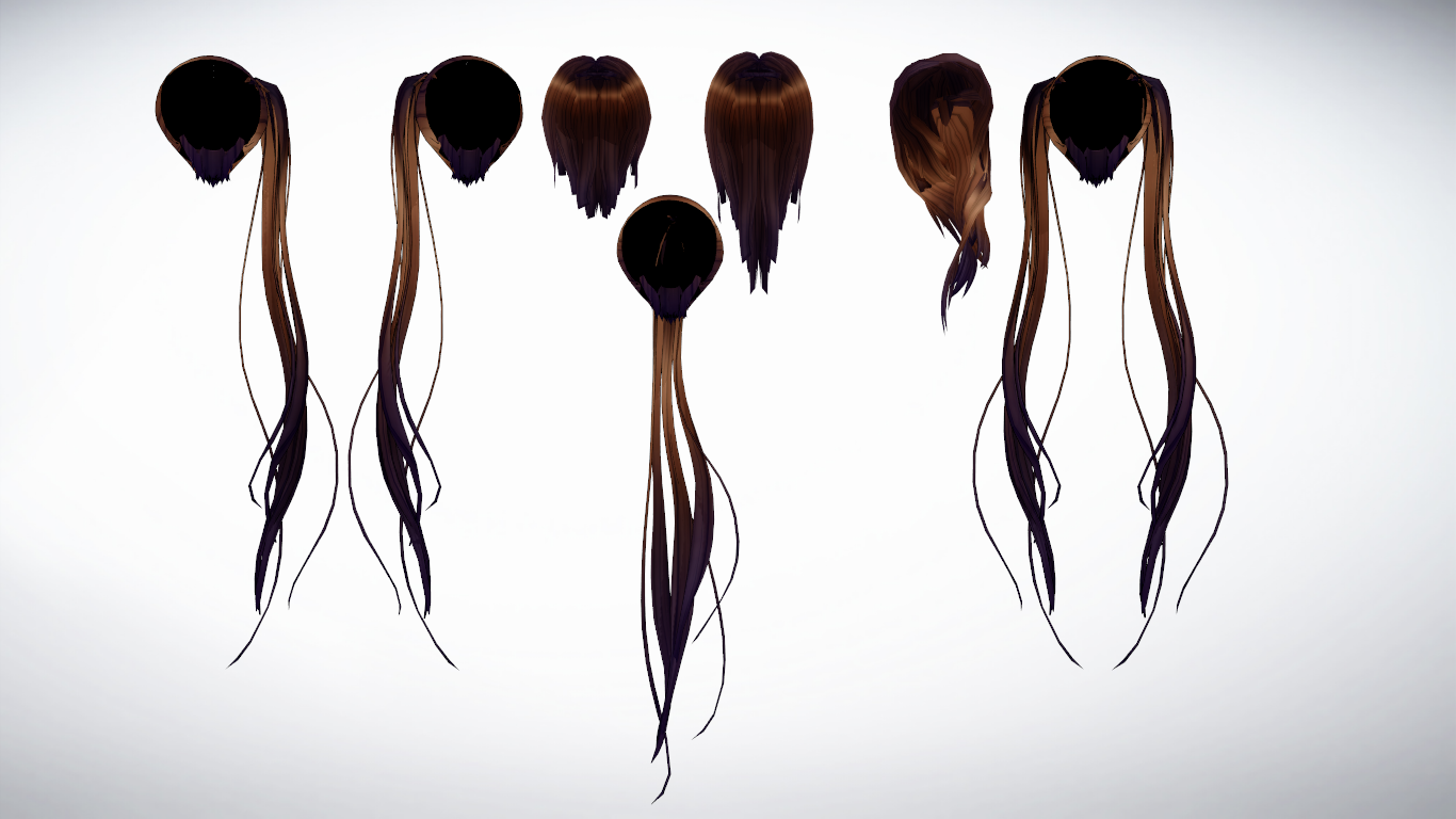 MMD Hair backs pack 1 by amiamy111 on DeviantArt