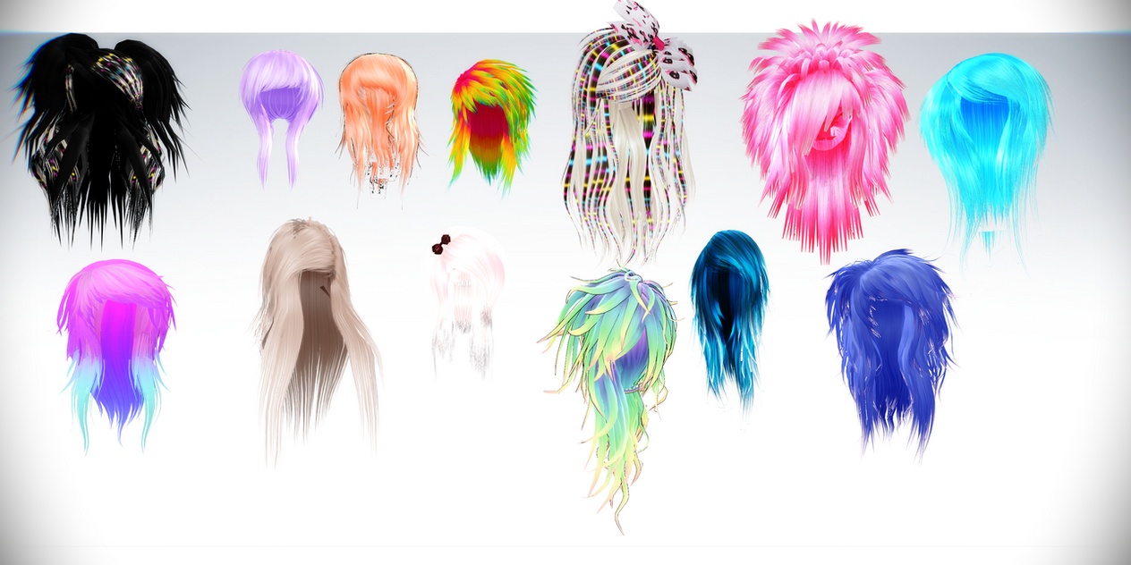 Mmd Special Chemikal Emotion Scene Hair Collection By