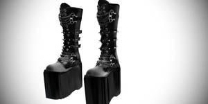 [MMD] Dani Boots Gothic Platform Boots Demonia sty