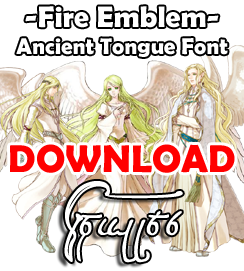 FE - Ancient Tongue Font by TenkaDigi