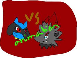 Riolu vs Zorua animation by Silvernazo