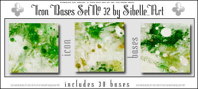Icon Bases Set No. 32 by Sibelle
